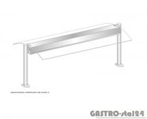 Nadstawka centralna z grzaniem i oświetleniem DM-94581 G-E wym. 1573x575x470