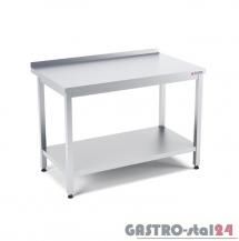 Stół przyścienny z półką wym. 1200x700x850