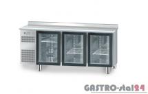 Stół chłodniczy z drzwiami przeszklonymi z płytą wierzchnia nierdzewną DM 94006 1825x700x850