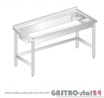 Stół do obróbki produktów DM 3237 szerokość: 600 mm (1200x600x850)