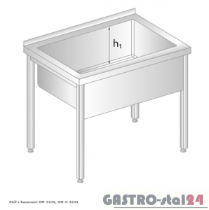 Stół z basenem DM 3235 szerokość: 700 mm, głębokość: 300 mm (800x700x850)