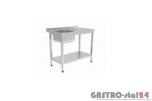 Stół ze zlewem i półką GT 3201 1200x600x850mm