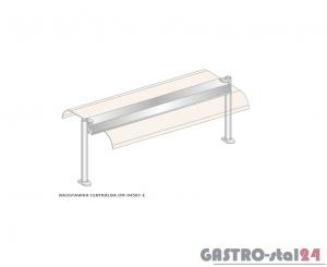 Nadstawka centralna z grzaniem i oświetleniem DM-94587 G-E wym. 1234x600x470