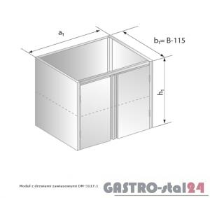 Moduł z drzwiami zawiasowymi DM 3117.1 wym. 800x485x650