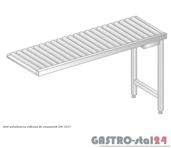 Stół wyładowczy rolkowy do zmywarek DM 3277  szerokość: 634 mm  (600x634x850)