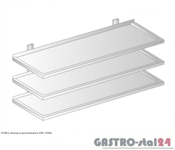 Półka wisząca przestawna DM 3506 szerokość: 400 mm  (600x400x1050)