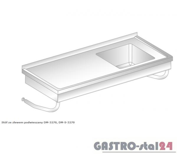 Stół ze zlewem podwieszany DM 3270 szerokość: 600 mm  (800x600x375)