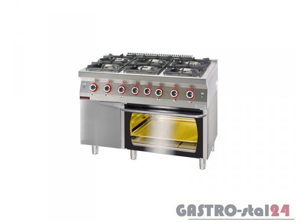 Kuchnia gazowa z piekarnikiem gazowym 700.KG-6/PG-2/SD 1200x700x900