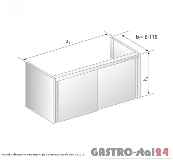 Moduł z drzwiami suwanymi pod zlewozmywak DM 3211.1 szerokość: 585 mm