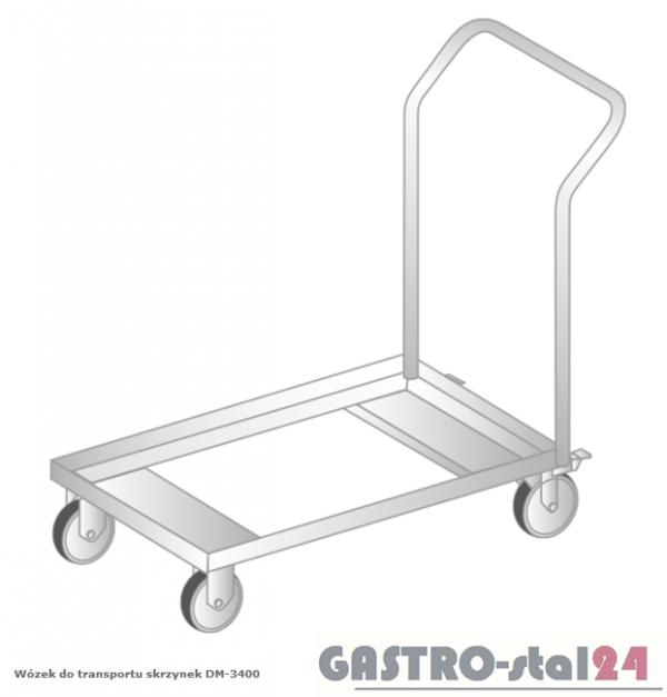 Wózek do transportu skrzynek DM 3400 szerokość: 550 (600x550x850)