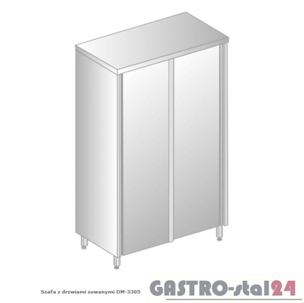Szafa magazynowa z drzwiami suwanymi DM 3305.01 szerokość: 600 mm, wysokość: 1800 mm (800x600x1800)