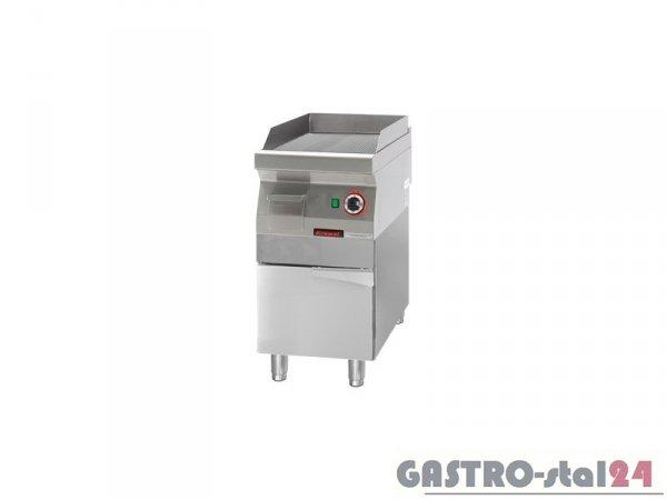 Płyta beztłuszczowego smażenia gazowa ryflowana chromowana. 700.PBG-400R,400x700x900