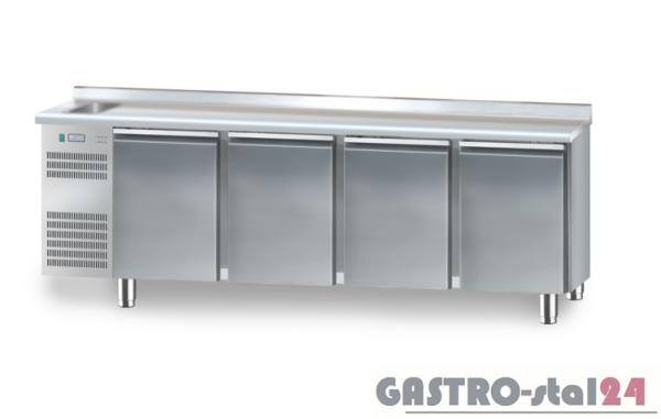 Stół chłodniczy ze zlewozmywakiem z płytą wierzchnią nierdzewną DM 91004 2325x600x850