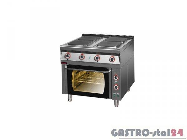 Kuchnia elektryczna z piekarnikiem elektrycznym termoobieg 900.KE-4PE/T