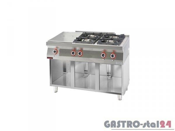 Kuchnia gazowa z płytą grzewczą 700.KG-4/I-400.S,1200x700x900