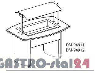 Segment chłodniczy  DM 94911 1520x1060(910)x1480