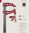 Ścisk stolarski Maxipress R Piher 40cm 10kN P61040 40x10mm