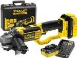 Akumulatorowa szlifierka kątowa Stanley FMC761M2 125mm 2x4.0Ah