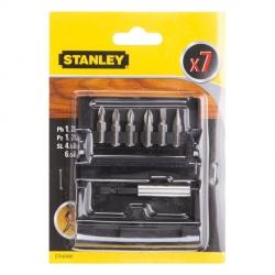 Zestaw bitów z końcówką magnetyczną Stanley STA60480 Ph, Pz, SL  7szt.