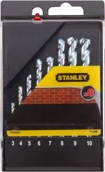 Zestaw 8 wierteł do muru, ceły, pustaka Stanley STA56040