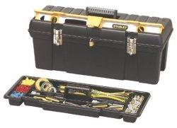 Skrzynka narzędziowa z przedziałem na poziomice Stanley 26  92850