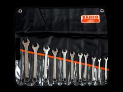 Zestaw 11 kluczy płasko oczkowych Bahco 111M/11T