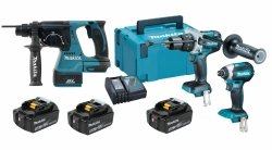 Zestaw combo Makita 3 narzędzia DHP481 DTD153 DHR243 3x5.0Ah 18V