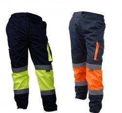 Spodnie ostrzegawcze odblaskowe do pasa Vizwell VWTC17