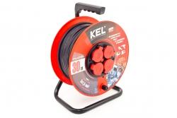 Przedłużacz bębnowy warsztatowy KEL PB-PRO/D/30M/3X2.5/H05RR-F/CZARNY 30m W-97922