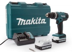 Wiertarko-wkrętarka udarowa akumulatorowa Makita HP347DWE 14,4V 2x1,3Ah