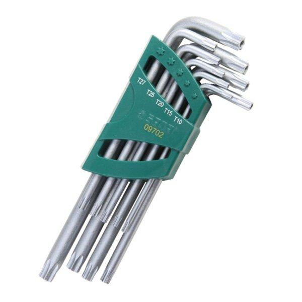 Zestaw 9 kluczy trzpieniowych ekstra długich TORX SATA 09702
