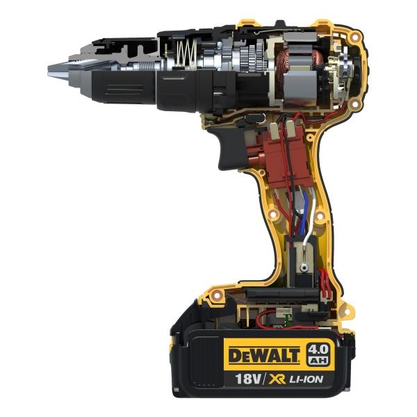 Kompaktowa wiertarko-wkretarka DeWALT DCD780M2 XR Li-Ion 18V 2x 4.0Ah