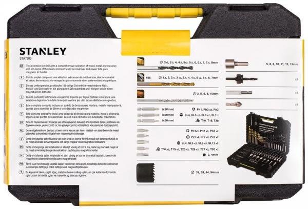 Zestaw wierteł i bitów Stanley STA7205 100 części