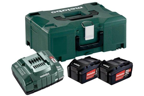 Zestaw zasilający Metabo 2x5.2 Ah Akumulatory + ładowarka ASC 30-36 V 685065000