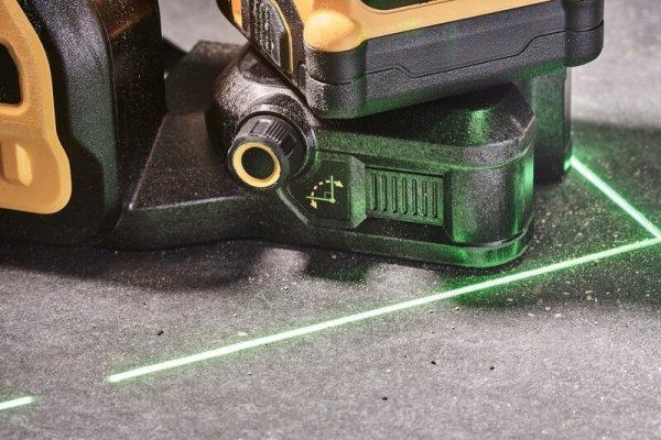 3-wiązkowy zielony laser samopoziomujący 360° DeWalt DCE089D1G18 1x2Ah 18V /12V XR