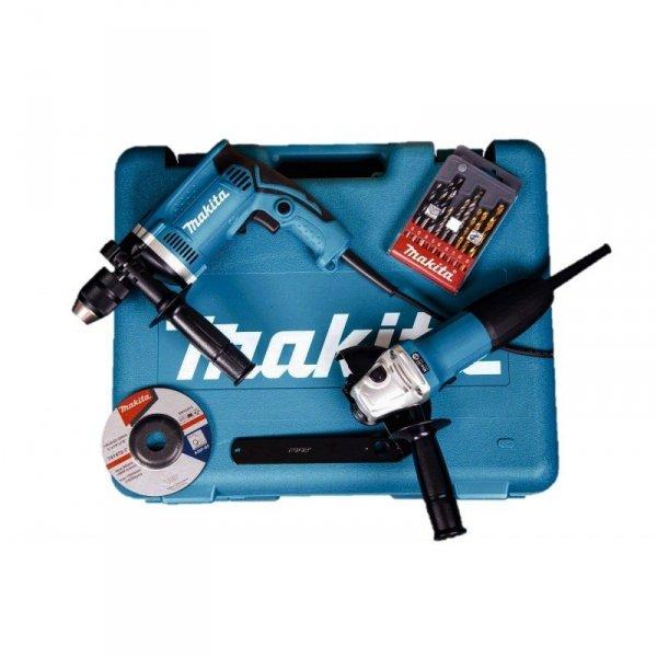 MAKITA DK0050 zestaw combo szlifierka GA5030R wiertarka HP1631