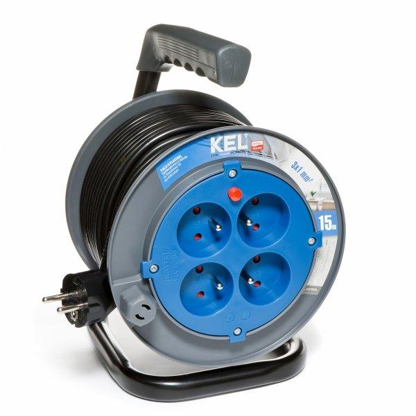 Przedłużacz bębnowy domowy KEL PB-HOME/15M/3X1/H03VV-F 15m W-97622