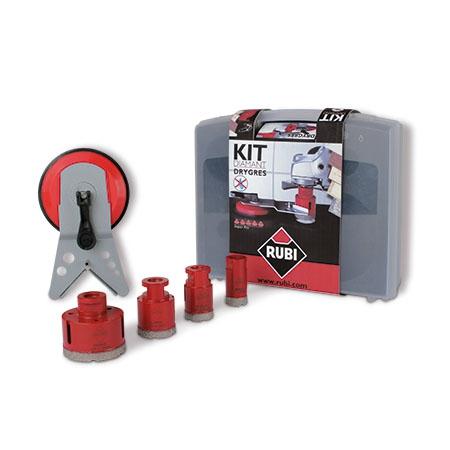 Zestaw DryGres RUBI zestaw 4 koronek wiercenie na sucho 06967