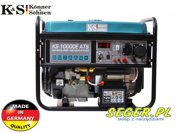 Agregat prądotwórczy KS10000E ATS z AVR 7,5kW 230V