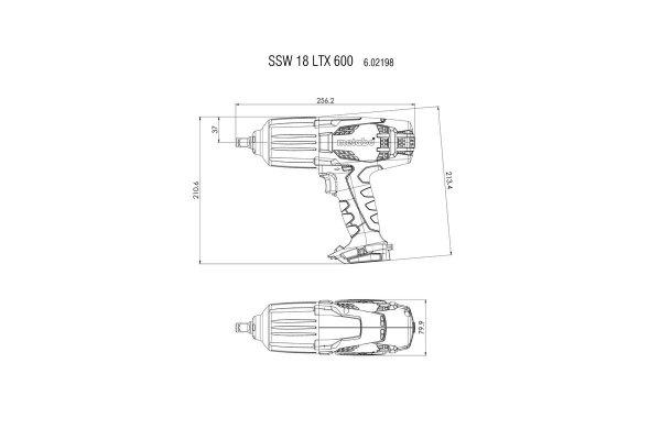 Klucz udarowy Metabo SSW 18 LTX 600 602198660