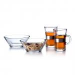 Rosendahl GRAND CRU Szklanki do Herbaty, Kawy + 2 Miski Szklane - Zestaw 4 El.