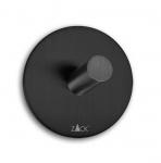 Zack DUPLO BLACK Okrągły Wieszak na Ręczniki Samoprzylepny 4,5 cm 2 Szt. Czarny