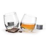 Sagaform CLUB Bujające Szklanki do Whisky, Drinków z Kamieniami Chłodzącymi 2 Szt.