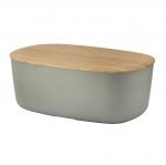 RIG-TIG by Stelton BOX-IT Chlebak - Pojemnik na Chleb z Deską Bambusową - Szary