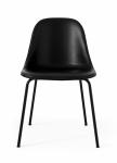 Menu HARBOUR SIDE Krzesło - Rama Czarna - Siedzisko Czarne Skóra Naturalna