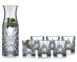 Lyngby Glass MELODIA Kryształowa Karafka + Szklanki do Wody 7 El.
