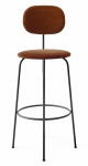 Menu AFTEROOM Krzesło Barowe 102 cm Hoker Czarny Tapicerowany - Tkanina City V062