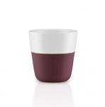 Eva Solo Filiżanki do Kawy Espresso 80 ml 2 Szt. Ciemne Bordo