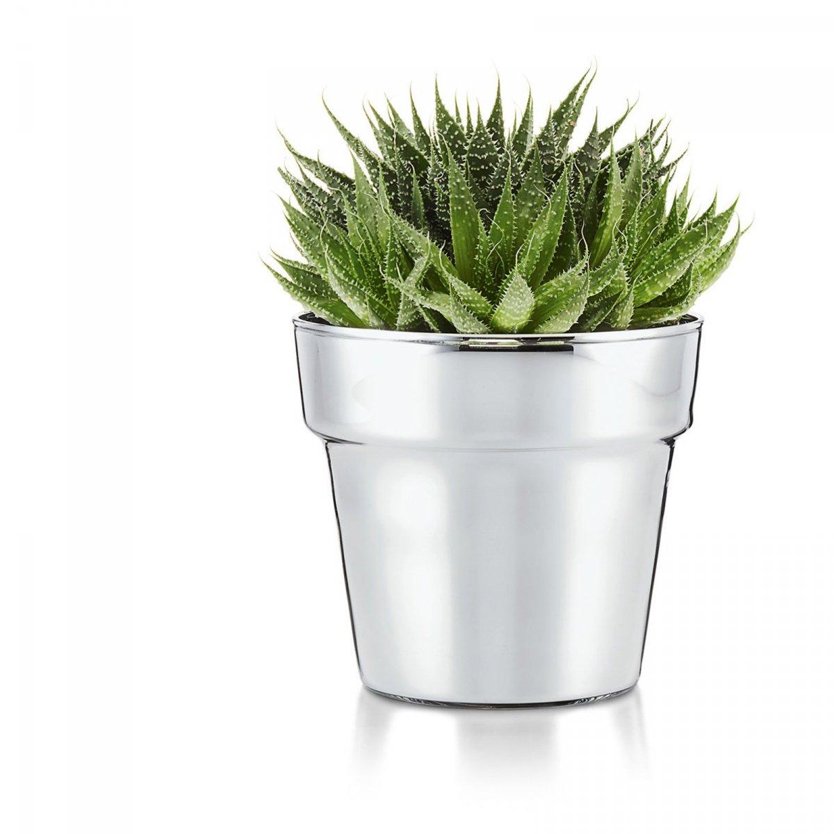 Philippi Pot Doniczka Do Kwiatów 13 Cm Chromowana