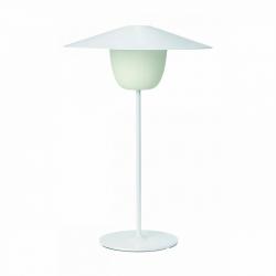 Blomus ANI Bezprzewodowa Lampa LED 2w1 Stołowa/Wisząca 49 cm Biała